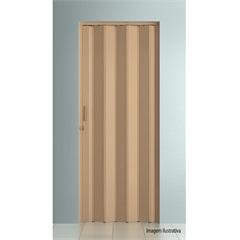 Porta Sanfonada Plast Porta com Puxador E Trinco 210x60cm Bege - BCF