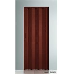 Porta Sanfonada Plast Porta com Puxador E Trinco 210x60cm Mogno - BCF