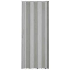 Porta Sanfonada Plast Porta com Puxador E Trinco 210x72cm Cinza - BCF