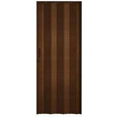 Porta Sanfonada Plast Porta com Puxador E Trinco 210x72cm Imbuia - BCF