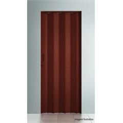 Porta Sanfonada Plast Porta com Puxador E Trinco 210x72cm Mogno - BCF