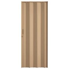 Porta Sanfonada Plast Porta com Puxador E Trinco 210x84cm Bege - BCF