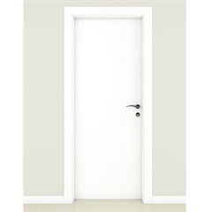 Porta Semissólida Standard Lisa Primer Branca 92cm - Famossul
