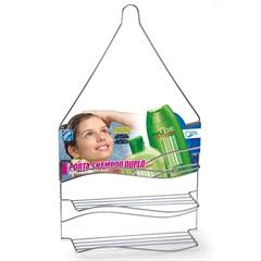 Porta Shampoo Duplo de Pendurar Cromado - Arthi