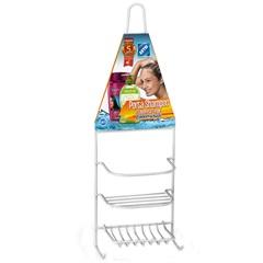 Porta Shampoo E Saboneteira Single Emborrachado Branco - Arthi
