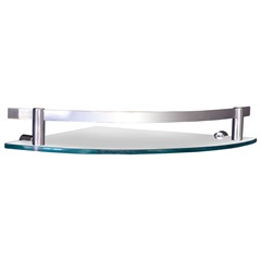 Porta Shampoo em Vidro Canto 24x24cm Cromado - Sicmol