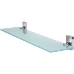 Porta Shampoo em Vidro Perfetto Cromado - Forusi