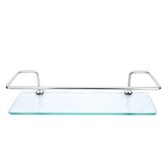 Porta Shampoo Junior de Vidro 30cm Cromado - Bognar