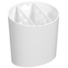 Porta Talher com 3 Divisórias Basic 14,4x13,8cm Branco