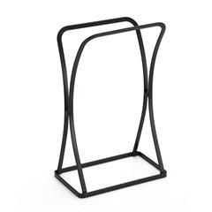 Porta Toalha de Bancada em Aço 30,5x11x19cm Preto - Arthi