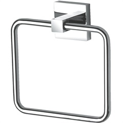 Porta Toalha de Rosto Quadra Cromado - Perflex