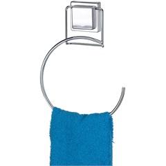 Porta Toalhas Redondo com Ventosa Fixa Cromado - Arthi