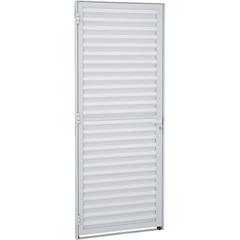 Porta Veneziana Direita Alumifit 215x77cm Branca - Sasazaki