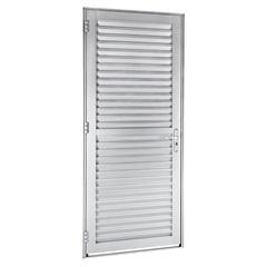 Porta Veneziana Direita Alumifort 216x88cm Branca - Sasazaki