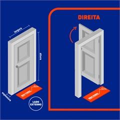 Porta Veneziana Direita Belfort 217x77cm Cinza - Sasazaki