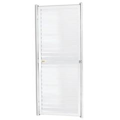 Porta Veneziana Direita em Alumínio Linha 25 180x102cm Branca - Brimak