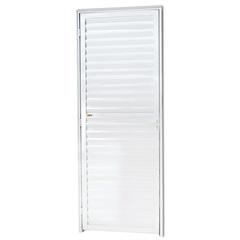 Porta Veneziana Direita em Alumínio Linha 25 210x80cm Branca - Brimak