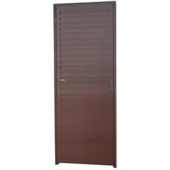 Porta Veneziana Direita em Alumínio Linha 25 210x80cm Cortem - Brimak