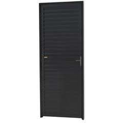 Porta Veneziana Direita em Alumínio Linha 25 210x80cm Preta - Brimak