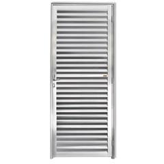 Porta Veneziana Esquerda em Alumínio Esquerda Linha 25 210x80cm Brilhante - Brimak