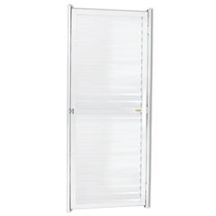Porta Veneziana Esquerda em Alumínio Linha 25 180x70cm Branca - Brimak