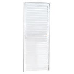 Porta Veneziana Esquerda em Alumínio Linha 25 210x70cm Branca - Brimak