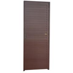Porta Veneziana Esquerda em Alumínio Linha 25 210x80cm Cortem - Brimak