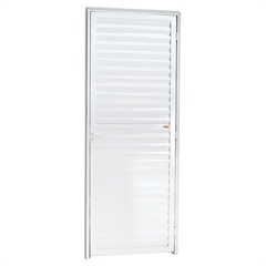 Porta Veneziana Esquerda em Alumínio Super 25 210x86cm Branca - Brimak