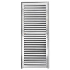 Porta Veneziana Fechada em Alumínio Direita L-25 210x80cm Brilhante - Brimak