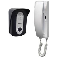 Porteiro Eletrônico de Sobrepor Bivolt Residencial Branco E Preto
