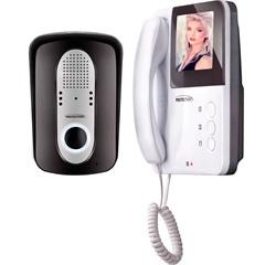 Porteiro Eletrônico de Sobrepor com Vídeo E Visão Noturna Bivolt Residencial Preto E Branco - Protection