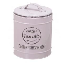 Pote em Metal Biscuits Lille Bege 13,3cm - Casa Etna