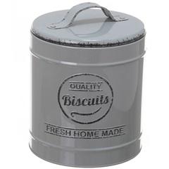 Pote em Metal Biscuits Lille Cinza 13,3cm - Casa Etna