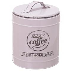 Pote em Metal Coffee Lille Bege 13,3cm - Casa Etna
