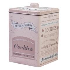 Pote em Metal para Cookies Giverny 20x13cm Rosa - Casa Etna