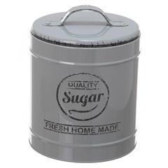 Pote em Metal Sugar Lille Cinza 13,3cm - Casa Etna