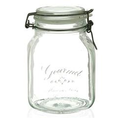 Pote em Vidro Gourmet Borgonovo 1,7l Transparente - Casa Etna