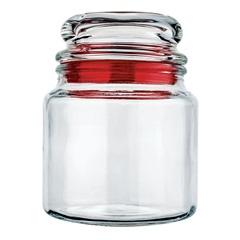 Pote Hermético de Vidro 560ml Vermelho - Euro