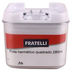 Pote Hermético Quadrado 280ml - Fratelli