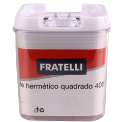 Pote Hermético Quadrado 400ml - Fratelli