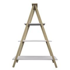 Prateleira em Madeira Escada 117x72cm Branca - Muve Design