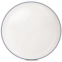 Prato de Sobremesa Cerâmica Klein Branco - Corona
