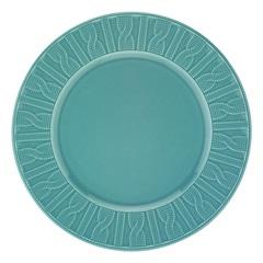Prato de Sobremesa em Cerâmica 22cm Azul  - Casanova