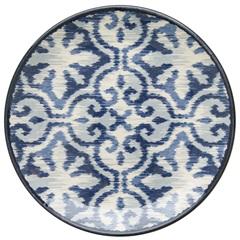 Prato de Sobremesa em Cerâmica Aquarelle 20cm Boho Blue - Copa & Cia
