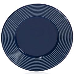 Prato de Sobremesa em Cerâmica Argos 20cm Azul - Casa Etna
