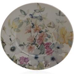 Prato de Sobremesa em Cerâmica Floreale 20cm Colorido - Casa Etna