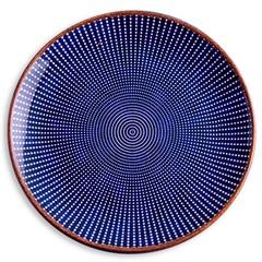 Prato de Sobremesa em Cerâmica Target 21cm Azul - Casa Etna