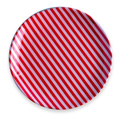 Prato de Sobremesa em Melamina Xmas 21cm Vermelho - Casa Etna