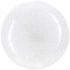 Prato em Acrílico Martelado 27,5cm Transparente - Casanova