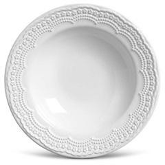 Prato em Cerâmica Fundo Madeleine 22cm Branco